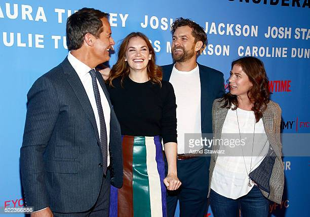 Actors Josh Stamberg Ruth Wilson Joshua Jackson and Maura Tierney attend The Affair New York screening at NYIT Auditorium on Broadway on April 18...