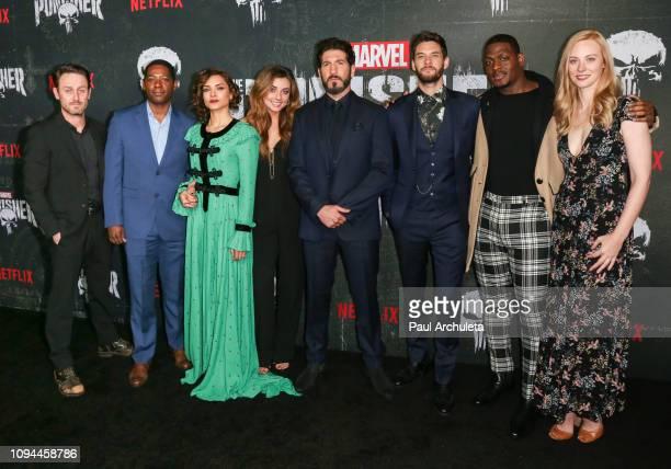 Actors Josh Stewart Royce Johnson Amber Rose Revah Giorgia Whigham Jon Bernthal Ben Barnes Jason R Moore and Deborah Ann Woll attend Marvel's The...