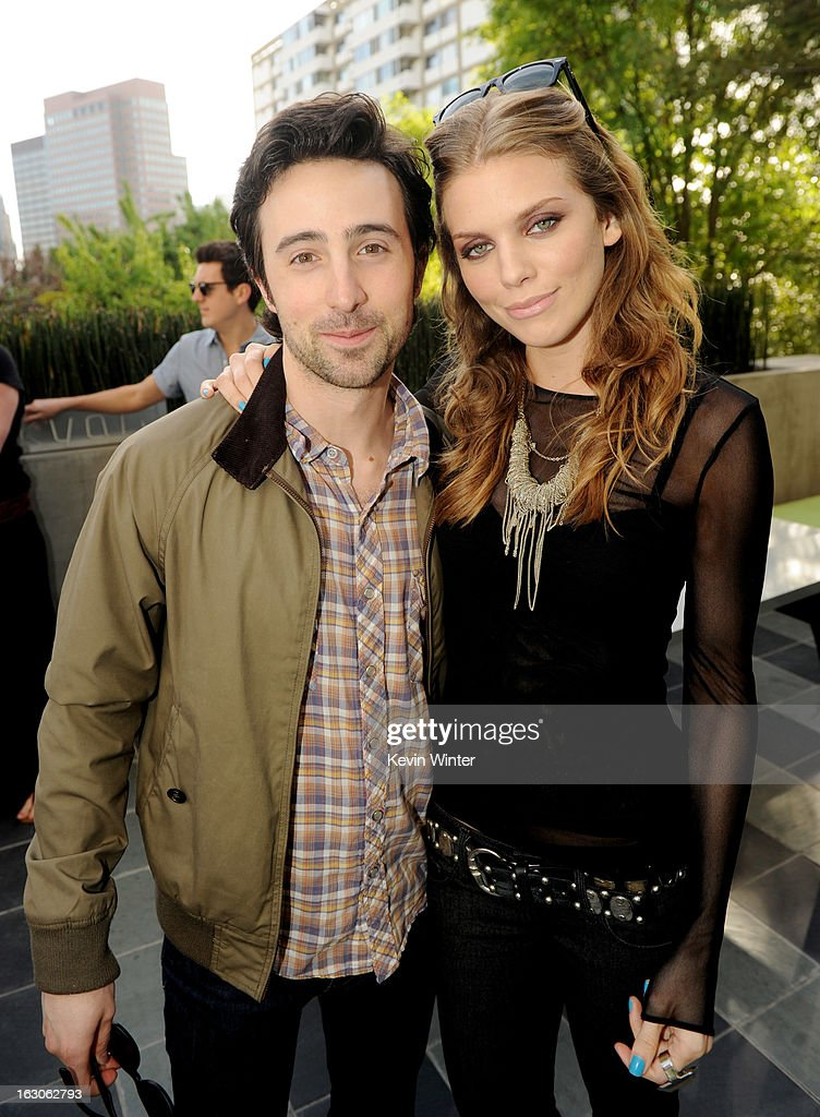 Actors Josh Zuckerman (L) and AnnaLynne McCord pose at the CW Network's '90210' Season 5 Wrap Party on March 3, 2013 in Los Angeles, California.
