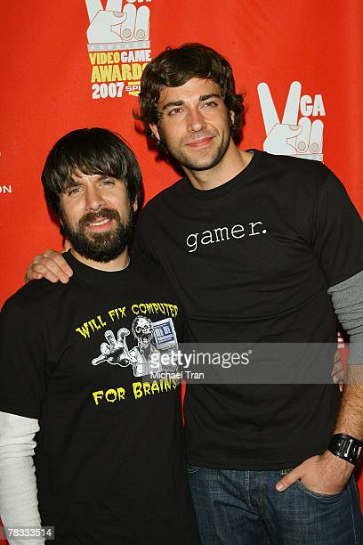 Actors Joshua Gomez and Zachary Levi arrives at Spike TV's 5th Annual Video Game Awards held at Mandalay Bay Events Center on December 7 2007 in Las...