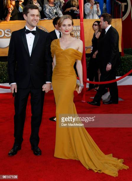 Actors Joshua Jackson and Diane Kruger arrive at the 16th Annual Screen Actors Guild Awards held at the Shrine Auditorium on January 23 2010 in Los...