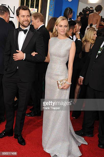 Actors Joshua Jackson and Diane Kruger arrive at the 72nd Annual Golden Globe Awards held at the beverly Hilton Hotel