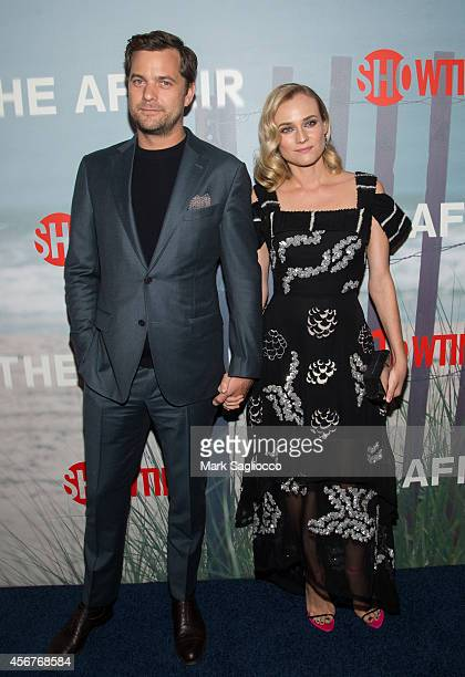 Actors Joshua Jackson and Diane Kruger attend premiere of SHOWTIME drama 'The Affair' held at North River Lobster Company on October 6 2014 in New...