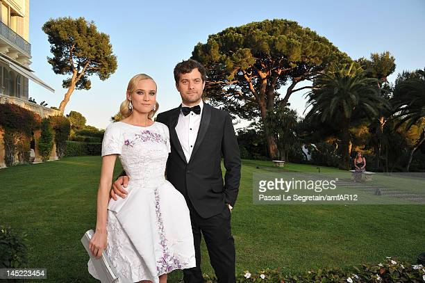 Actors Joshua Jackson and Diane Kruger attend the 2012 amfAR's Cinema Against AIDS during the 65th Annual Cannes Film Festival at Hotel Du Cap on May...