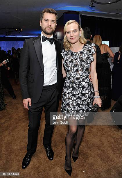 Actors Joshua Jackson and Diane Kruger attend the 2015 InStyle And Warner Bros 72nd Annual Golden Globe Awards PostParty at The Beverly Hilton Hotel...