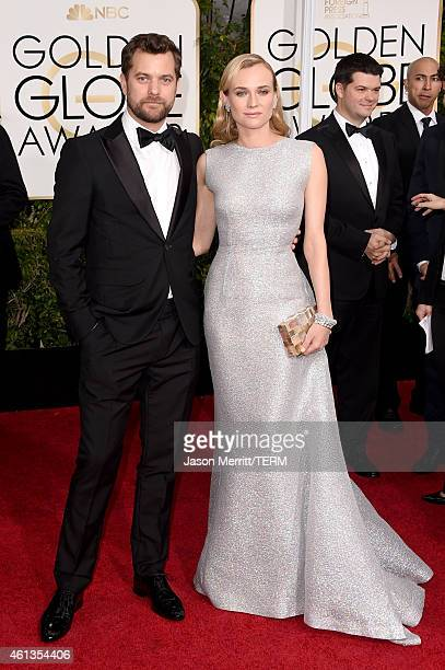 Actors Joshua Jackson and Diane Kruger attend the 72nd Annual Golden Globe Awards at The Beverly Hilton Hotel on January 11 2015 in Beverly Hills...