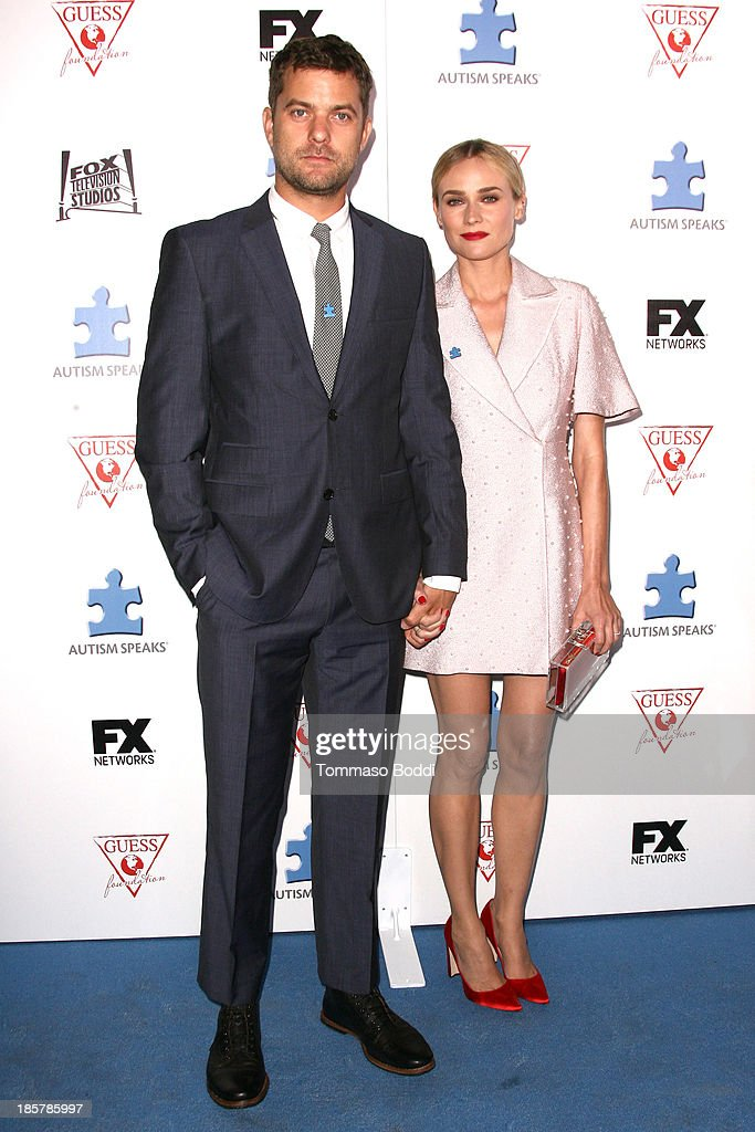Actors Joshua Jackson (L) and Diane Kruger attend the Autism Speaks 3rd annual 'Blue Jean Ball' held at Boulevard3 on October 24, 2013 in Hollywood, California.