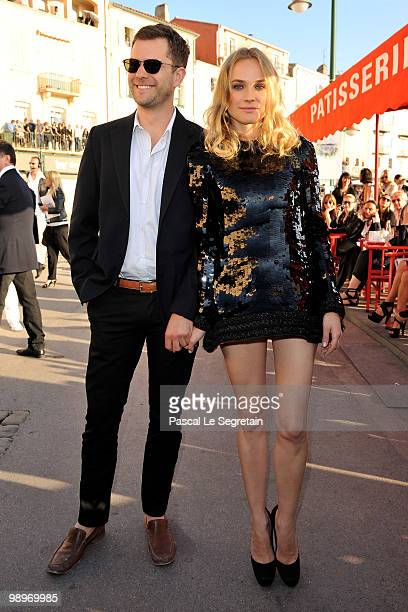 Actors Joshua Jackson and Diane Kruger attend the Chanel Cruise Collection Presentation on May 11 2010 in SaintTropez France