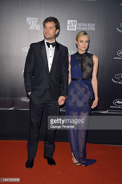 Actors Joshua Jackson and Diane Kruger attend the Haiti Carnival In Cannes Benefitting J/P HRO Artists For Peace and Justice Happy Hearts Fund...