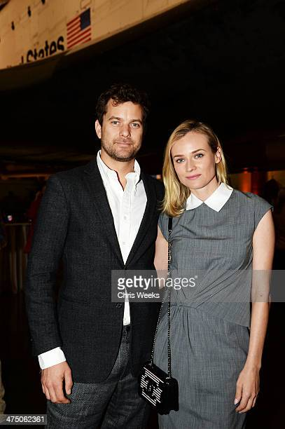 Actors Joshua Jackson and Diane Kruger attend The Lourdes Foundation Leadership in the 21st Century Event with His Holiness the 14th Dalai Lama at...