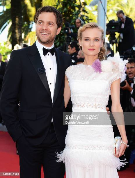 Actors Joshua Jackson and Diane Kruger attends the 'Killing Them Softly' Premiere during the 65th Annual Cannes Film Festival at Palais des Festivals...