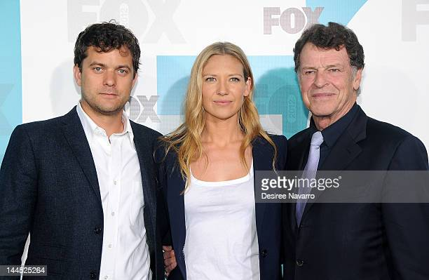 Actors Joshua Jackson Anna Torv and John Noble attend the Fox 2012 Programming Presentation PostShow Party at Wollman Rink Central Park on May 14...