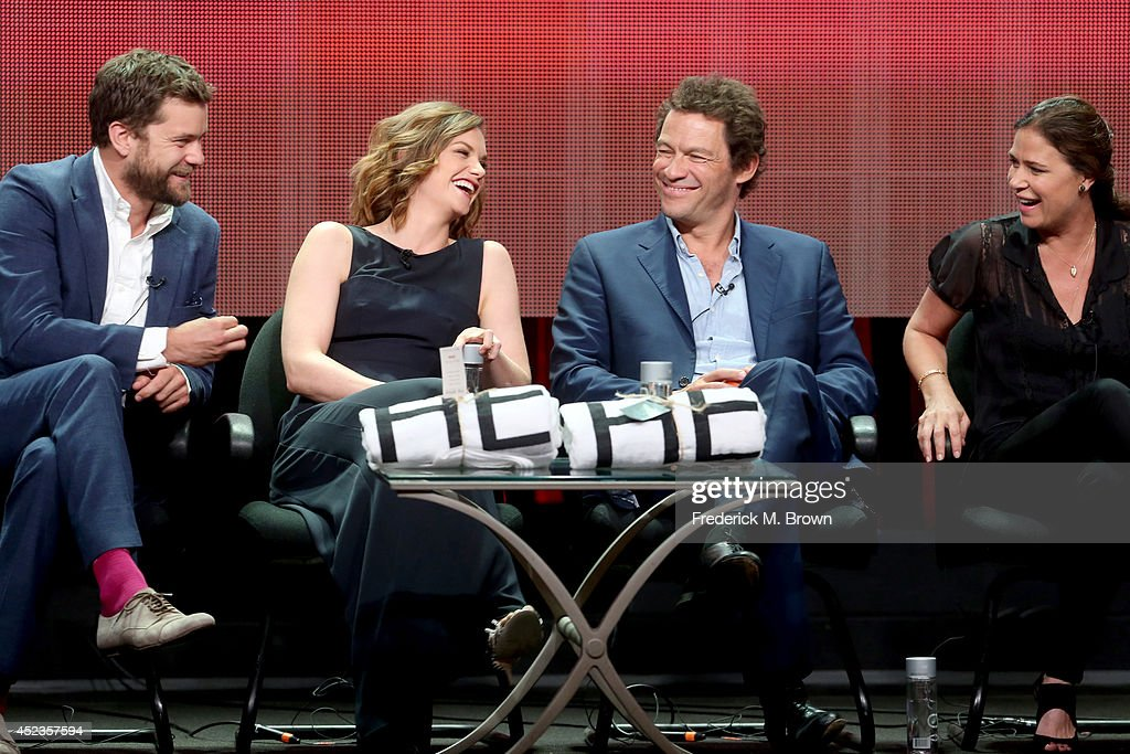 Actors Joshua Jackson, Ruth Wilson, Dominic West, and Maura Tierney speak onstage at the 'The Affair' panel during the SHOWTIME Network portion of the 2014 Summer Television Critics Association at The Beverly Hilton Hotel on July 18, 2014 in Beverly Hills, California.