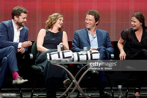 Actors Joshua Jackson Ruth Wilson Dominic West and Maura Tierney speak onstage at the 'The Affair' panel during the SHOWTIME Network portion of the...