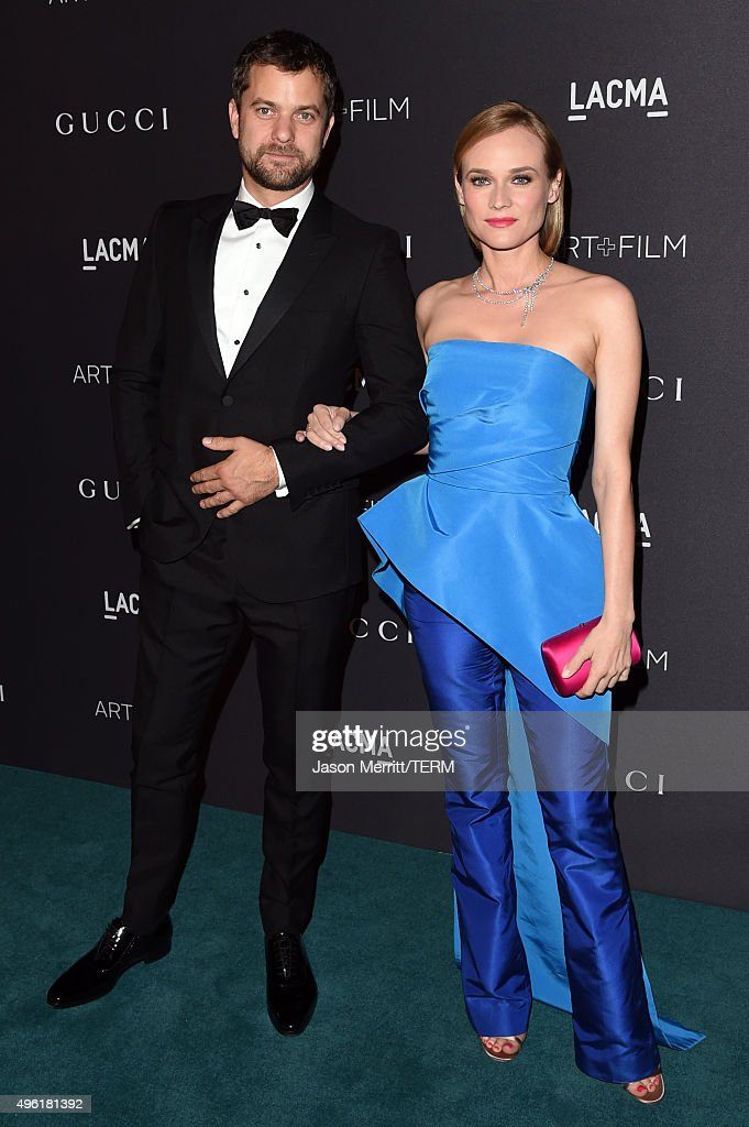 Actors Joshua Jackson, wearing Gucci, (L) and Diane Kruger attend LACMA 2015 Art+Film Gala Honoring James Turrell and Alejandro G Iñárritu, Presented by Gucci at LACMA on November 7, 2015 in Los Angeles, California.