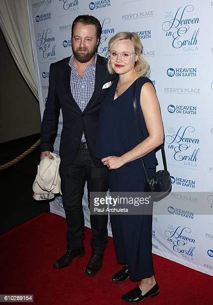 Actors Joshua Leonard and Alison Pill attend the 2016 Heaven On Earth Gala at The Garland on September 24 2016 in North Hollywood California