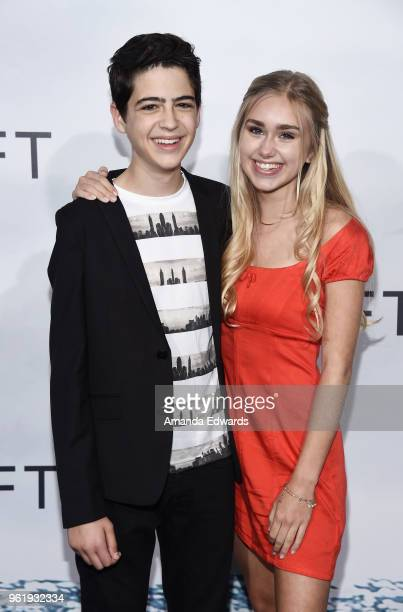 Actors Joshua Rush and Emily Skinner arrive at the premiere of STX Films' Adrift at the Regal LA Live Stadium 14 on May 23 2018 in Los Angeles...