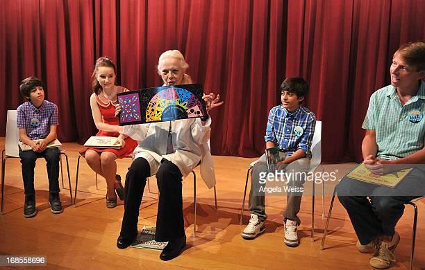 Actors Joshua Rush Kaitlyn Dever Barbara Bain Karan Brar and Jack McBrayer read at the Screen Actors Guild Foundation 20 Years Of BookPALS...