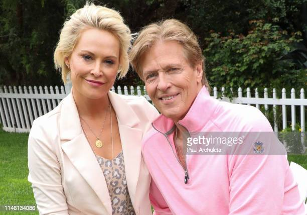 Actors Josie Bissett and Jack Wagner visit Hallmark's Home Family at Universal Studios Hollywood on April 30 2019 in Universal City California