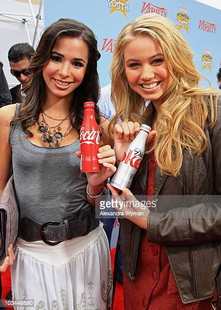 Actors Josie Loren and Ayla Kell arrive at Variety's 3rd annual Power of Youth event held at Paramount Studios on December 5 2009 in Los Angeles...