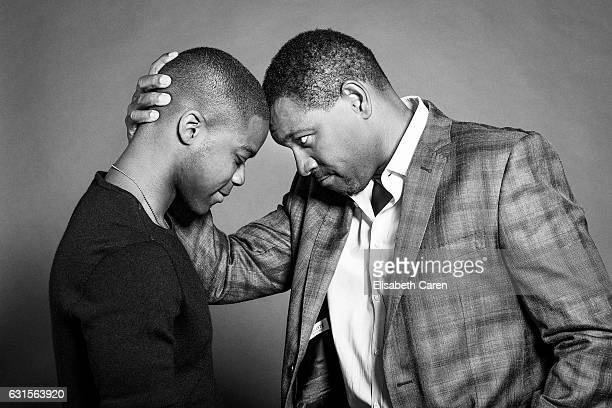 Actors Jovan Adepo and Mykelti Williamson are photographed for The Wrap on November 28, 2016 in Los Angeles, California.