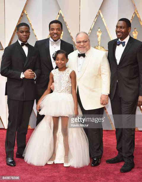 Actors Jovan Adepo Russell Hornsby Saniyya Sidney Stephen Henderson and Mykelti Williamson attend the 89th Annual Academy Awards at Hollywood...