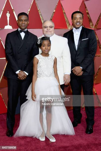 Actors Jovan Adepo Saniyya Sidney Stephen Henderson and Russell Hornsby attend the 89th Annual Academy Awards at Hollywood Highland Center on...