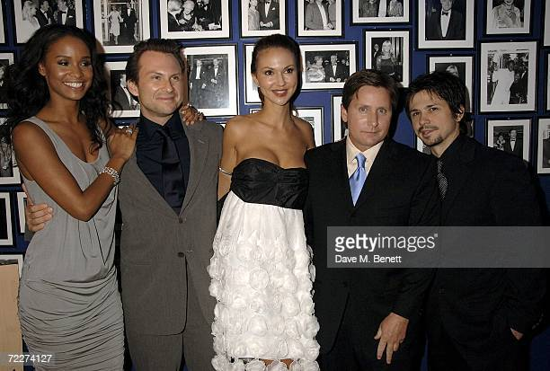 Actors Joy Bryant Christian Slater Svetlana Metkina director Emilio Estevez and actor Freddy Rodriguez attend the premiere of the movie Bobby held at...