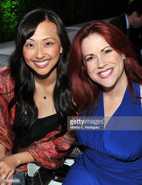 Actors Joy Osmanski and Cristina Pucelli attend a star-studded party hosted by Twentieth Century Fox Television Distribution at the Fox Lot on May...