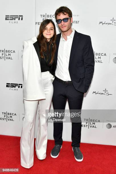 Actors Joy Rieger and Michael Aloni attend a screening of 'Virgins' during the 2018 Tribeca Film Festival at Cinepolis Chelsea on April 19 2018 in...