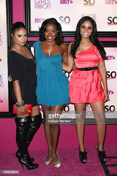 Actors Joyful Drake Nadine Ellis and Erica Hubbard attend the 5th Annual Black Girls Rock Awards at the Paradise Theater on October 16 2010 in the...