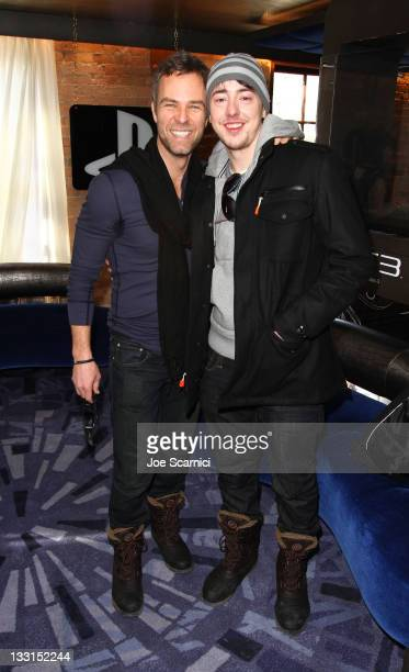 Actors JR Bourne and Chris Coy attend the PlayStation Lounge at Silver on January 24, 2011 in Park City, Utah.