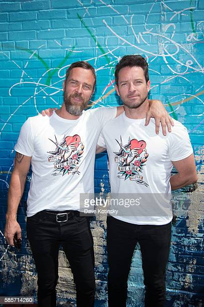 Actors JR Bourne and Ian Bohen attend the Launch of Kiehl's 7th Annual Liferide for amfAR with partner RxArt at the Incarnation Childrens Center on...