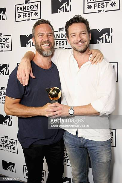 Actors JR Bourne and Ian Bohen attend the MTV Fandom Awards San Diego at PETCO Park on July 21 2016 in San Diego California