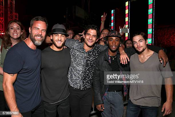 Actors JR Bourne, Cody Christian, Host Tyler Posey, actors Khylin Rhambo and Dylan Sprayberry attend the MTV Fandom Awards San Diego at PETCO Park on...