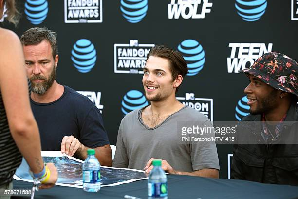 Actors JR Bourne, Dylan Sprayberry and Khylin Rhambo attend the MTV Fandom Awards San Diego at PETCO Park on July 21, 2016 in San Diego, California.