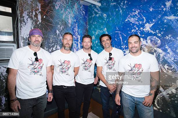 Actors JR Bourne Gilles Marini and Ian Bohen attend the Launch of Kiehl's 7th Annual Liferide for amfAR with partner RxArt at the Incarnation...