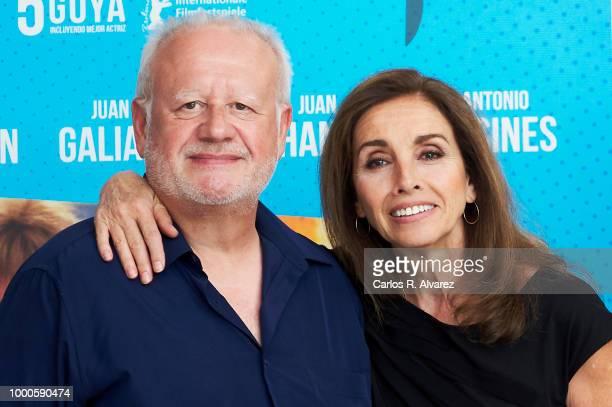 Actors Juan Echanove and Ana Belen attend 'El Vuelo de La Paloma' 30th anniversary at Academia de Cine on July 17 2018 in Madrid Spain