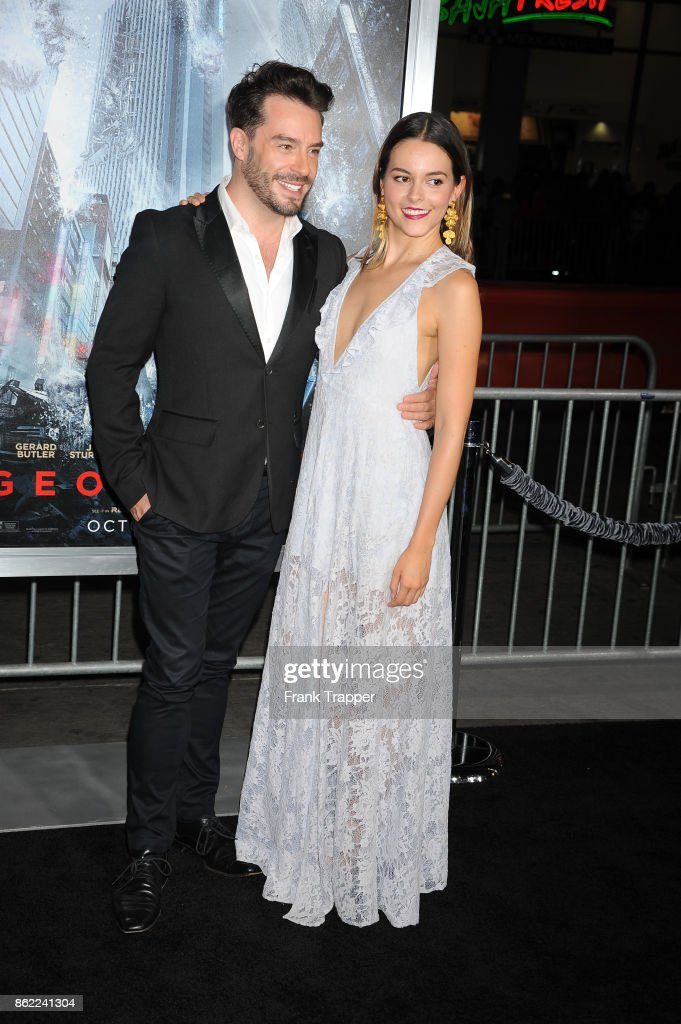 Actors Juan Pablo Espinosa and Julieth Restrepo attend the premiere of Warner Bros. Pictures' 'Geostorm' on October 16, 2017 at the TCL Chinese Theater in Hollywood, California.