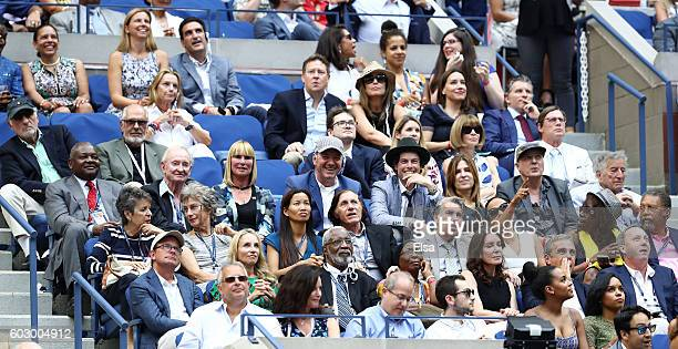 Actors Judd Hirsch and Michael Cristofer EIC of American Vogue Anna Wintour Rod Laver actor Kevin Spacey Evan Lowenstein singer Tony Bennett...
