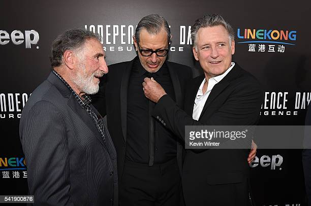 Actors Judd Hirsch Jeff Goldblum and Bill Pullman attend the premiere of 20th Century Fox's Independence Day Resurgence at TCL Chinese Theatre on...