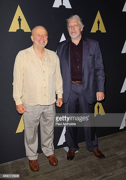 Actors Jude Ciccolella and Clancy Brown attend the 20th anniversary screening of 'The Shawshank Redemption' at the AMPAS Samuel Goldwyn Theater on...