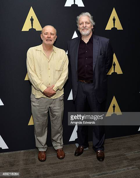 Actors Jude Ciccolella and Clancy Brown attend The Academy's 20th Anniversary Screening of 'The Shawshank Redemption' at the AMPAS Samuel Goldwyn...
