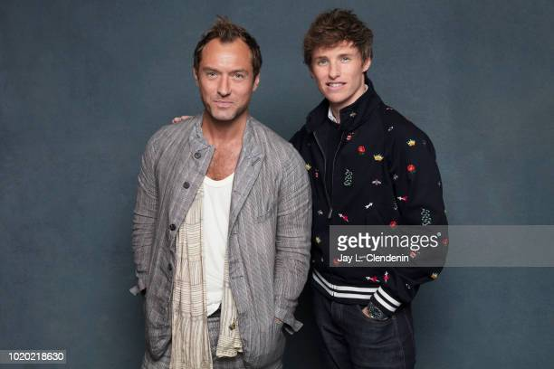 Actors Jude Law and Eddie Redmayne from the film 'Fantastic Beasts 2' are photographed for Los Angeles Times on July 21 2018 in San Diego California...