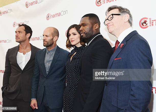 Actors Jude Law Jason Statham Rose Byrne rapper Curtis '50 Cent' Jackson III and Director Paul Feig attend 20th Century Fox Invites You to a Special...