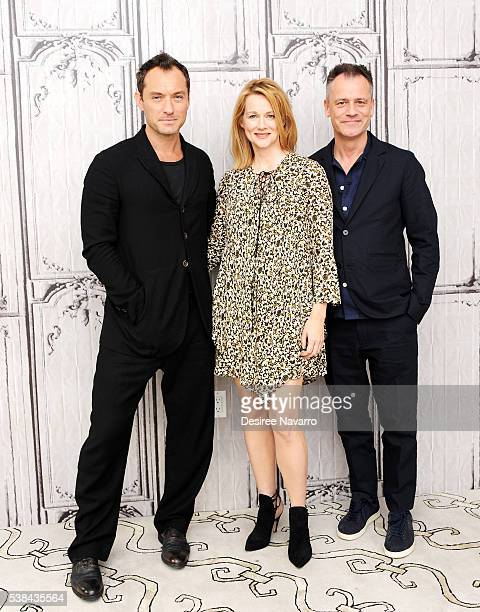 Actors Jude Law Laura Linney and director Michael Grandage attend AOL Build to discuss the film 'Genius' during AOL Build Speaker Series at AOL...