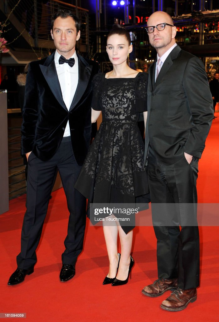 Actors Jude Law ,Rooney Mara and director Steven Soderbergh attend the 'Side Effects' Premiere during the 63rd Berlinale International Film Festival at Berlinale Palast on February 12, 2013 in Berlin, Germany.
