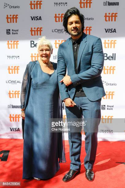 Actors Judi Dench and Ali Fazal attend the Victoria and Abdul Premiereat Princess of Wales Theatre on September 10 2017 in Toronto Canada