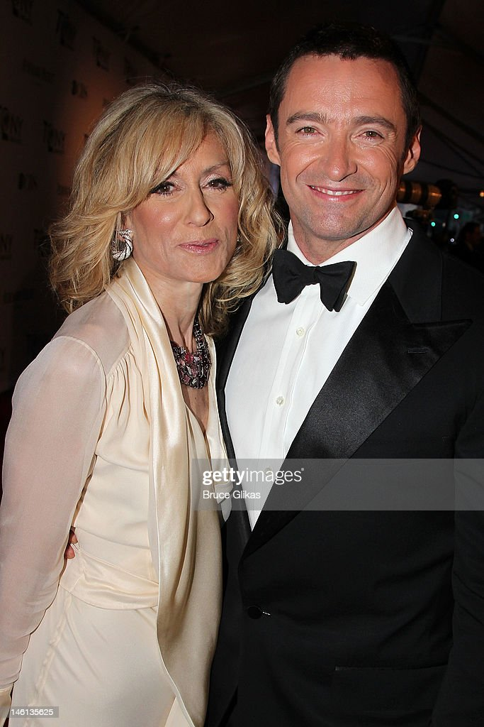 Actors Judith Light and Hugh Jackman attend the 66th Annual Tony Awards at The Beacon Theatre on June 10, 2012 in New York City.