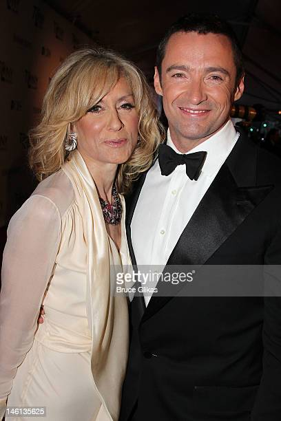 Actors Judith Light and Hugh Jackman attend the 66th Annual Tony Awards at The Beacon Theatre on June 10 2012 in New York City
